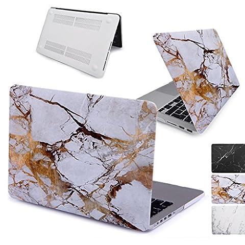 GUPi® / NOUVEAU, Coque en caoutchouc, motif MARBRE CHAMPAGNE OR, pour Apple MacBook 12 pouces (12