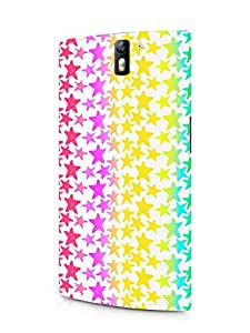 Cover Affair Stars Printed Designer Slim Light Weight Back Cover Case for One Plus One
