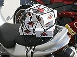 Gepäcknetz 40 x 40 cm schwarz für Roller u. Motorrad Sitzbank