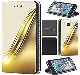 CoverHeld Hülle für Samsung Galaxy S6 Edge G925 Premium Flipcover Schutzhülle aus Kunstleder Flip Case Motiv (665 Abstract Weiß Gold)