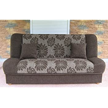 Polskie Wersalki - Dark Sofa Bed Fabric with storage place click ...