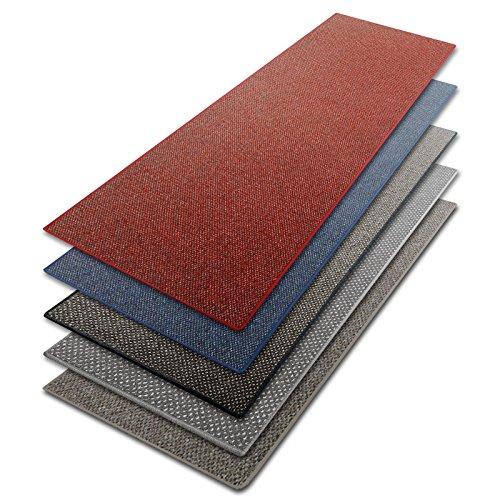 Teppich Läufer blau | Qualitätsprodukt aus Deutschland | GUT Siegel | kombinierbar mit Stufenmatten | viele Breiten und Längen (80x200 cm)
