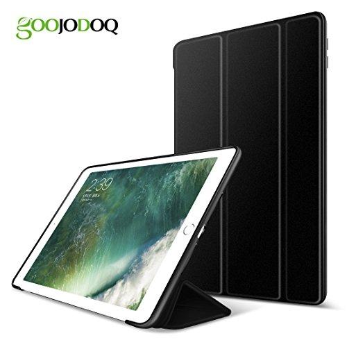 Nuevo iPad 2018/2017 9.7 Funda, GOOJODOQ Ligero Smart Case Cover con Magnetic Auto Sleep/Wake Función Piel Sintética a Prueba de Golpes Suave Silicona TPU funda para Ipad 2018/2017 9.7 negro
