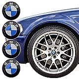 DigHealth 4 Nabenkappen mit BMW-Logo, 68 mm Durchmesser Radkappen, Nabendeckel BMW 68mm für Alufelgen