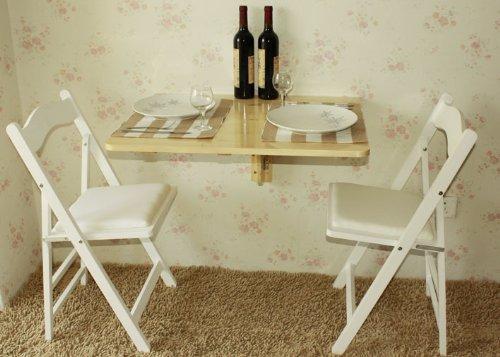 Tavoli Da Parete Cucina : Sobuy® tavolo da muro pieghevole in legno 75*60cm naturale senza