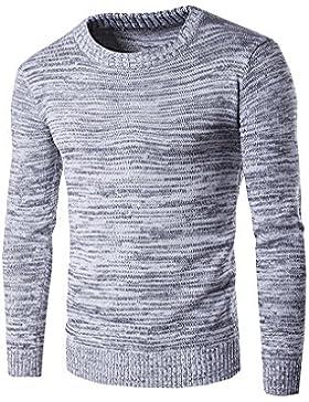 Jersey De Punto - Manga Larga - Suéter De Cuello Redondo De Los Hombres