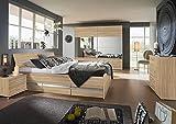 Schlafzimmer, Schlafzimmermöbel, Set komplett, Komplettset, Schlafzimmereinrichtung, Komplettangebot, Einrichtung, 4-teilig, Eiche Sägerau Sonoma