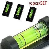 Magnetica con Livella a Bolla per Professionale Misura Normale Usage, 3pcs Portatile Tubolare Magnete Calamita Bolle Mini Livella a D'Aria Piccolo Tv(47.5mm*18.5mm*13.5mm,verde)