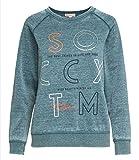 SOCCX Sweatshirt mit Ausbrenner-Effekten und Artwork Frozen Petrol M