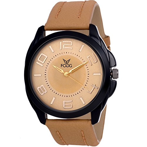 Fogg Analog Gold Dial Men\'s Watch 1121-GL