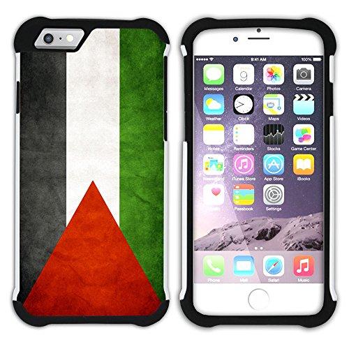 Graphic4You Vintage Uralt Flagge Von Turkey Türkisch Design Hart + Weiche Kratzfeste Hülle Case Schale Tasche Schutzhülle für Apple iPhone 6 Plus / 6S Plus Palästina Palästinenser