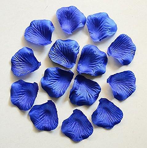 HJFF-1000~5000 pcs Verschiedene Hochzeit Dekorationen Farben silk Blume Rose Petals, Saphir, 2000 (Silk Petal Kleid)