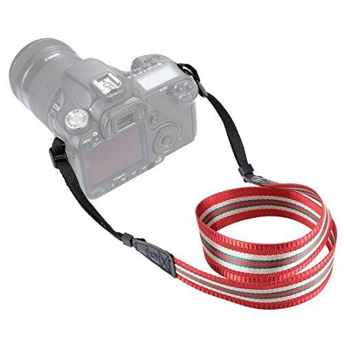 Movoja Kameragurt Redline Red | Universal DSLR Kamera SLR Tragegurt Schultergurt für Nikon Canon...