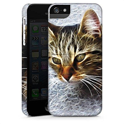 Apple iPhone 4 Housse Étui Silicone Coque Protection Chat Chat Petit chat CasStandup blanc