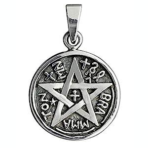 BELDIAMO Pentagramm Thelemic Logos Eliphas Levi's Magik Anhänger 5 g massiv 925 Sterling Silber