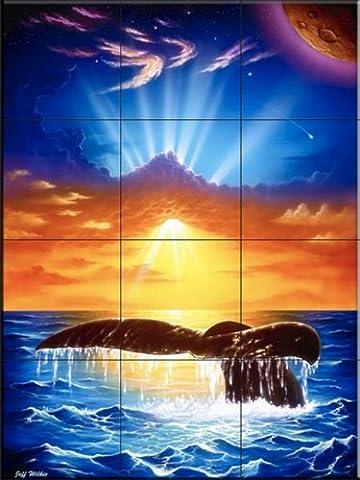Dive Majestic par Jeff Wilkie | Carrelage mural pour cuisine dosseret | Salle de bain Carrelage
