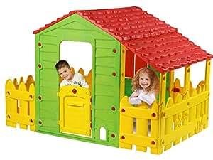 Cabane enfant ferme en pvc fun avec jardinet et veranda for Jardinet en anglais