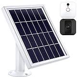 Pannello Solare Compatibile con Blink XT Interno/Esterno Telecamera di Sicurezza con Un Supporto Regolabile, 12 Piedi/ 3.6 m Cavo, Alimentazione Continuamente con Pannello Solare (Bianco)