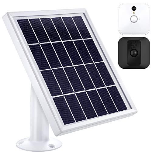 Solar Panel Kompatibel mit Blink XT XT2Indoor/ Outdoor Überwachung Kamera mit Einer Einstellbaren Halterung, 12 Fuß/ 3,6 m Kabel, Stromversorgung Kontinuierlich mit Solar Panel (Weiß)