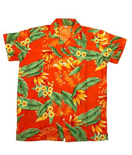 SAITARK Herren Freizeit-Hemd mehrfarbig mehrfarbig One size ORANGE Y.F.