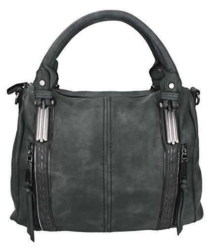Betz sac à main pour femme LONDON 1 en cuir synthétique avec fermeture éclair, bandoulière et deux anses