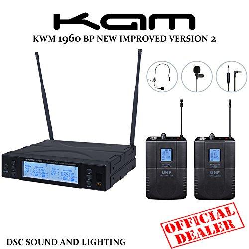kam-kwm-1960-bp-v2-channel-70-uhf-twin-wireless-bodypack-system