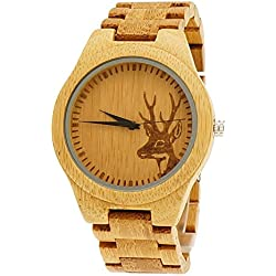 'Pure® Designer Ladies' Watch in Stag Men's Organic Wood, Limited Edition + Watch Box