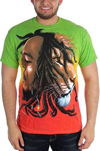 Bob Marley-tie Dye (Bob Marley Profiles Tie Dye Men's T-Shirt)