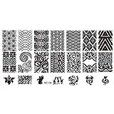 Lorjoy Encaje Stamper Nails Art Estampa el Clavo de Placa de la Plantilla Imagen de Las Flores de la Impresora