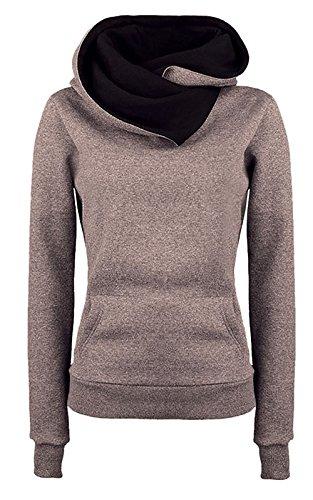 Lantch Damen Kapuzenpullover Winter Frauen beiläufig Hoodie outdoor pullover Langarm Einfarbig Sweatshirt jacke mantel outwear