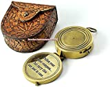 "Christmas Thanksgiving Gifts ""Follow your inner compass...With Mandala Design Handmade leather Case"