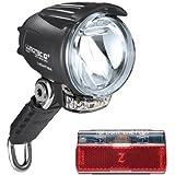 B&M Lumotec Cyo T Senso Plus schwarz Tagfahrlicht 60 Lux Fahrradlampe Lichtset (inkl. Top Lite Line Plus)
