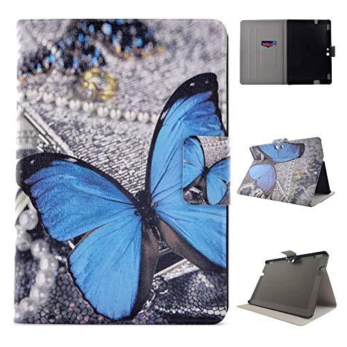 Outter Smart Kindle Fire HDX 8.9 Hülle, Ultradünne Superleicht Leder hart PC Innenfutter Smart Cover mit Auto Schlaf/Wach für Kindle Fire HDX 8.9 Zoll(3rd Generationen,2013 Release) - Blue Butterfly