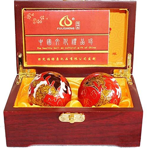 TOOMDMassage ball Palle di Esercizio Chimere Palle di Salute Cinesi per la Terapia della Mano, Esercizio, e Sollievo dallo Stress Creativo Scatola Regalo Casuale 50MM, 350G,B