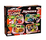 Roary the Racing Car Jigsaw Puzzle Set of 4 - 6, 8, 12 and 15 Piece Puzzles Age 3+