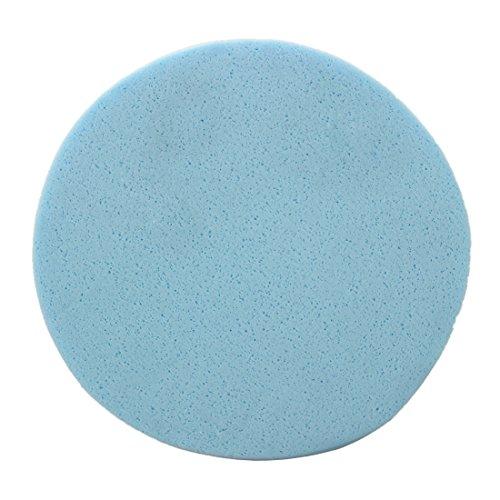 SODIAL(R) Eponge Houpette de Demaquillage Nettoyage Soin Visage Peau Bleu