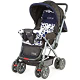 LuvLap Baby Stroller Pram Sunshine (Navy Blue)