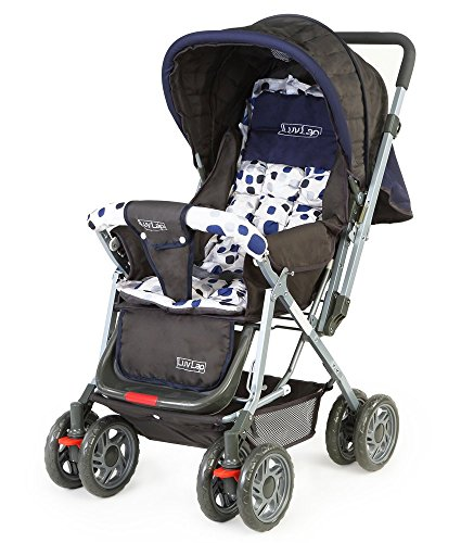LuvLap Baby Stroller Pram Sunshine Navy Blue