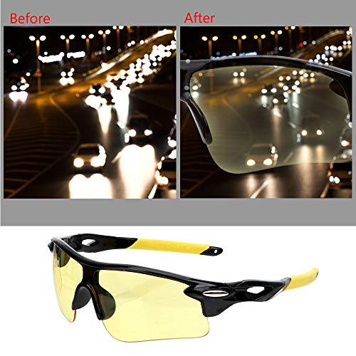 Holdream Auto Nachtsichtbrille Outdoor Sport Schutzbrille Blendschutz (Modell 3)