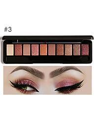 Pallette Fards à Paupière,Maquillage 18 couleurs dans 1 fard à paupières Shimmer Pallete femmes imperméable à...