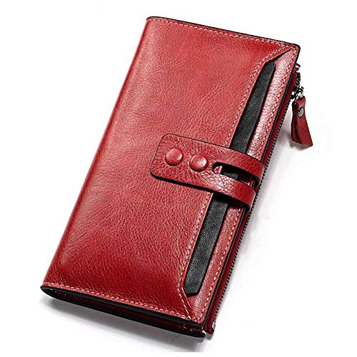 IOIOA Bifold Stylish Slim Wallet-Slim Minimalist Vordertasche RFID-Blocking Leder Geldbörsen für Männer Frauen -