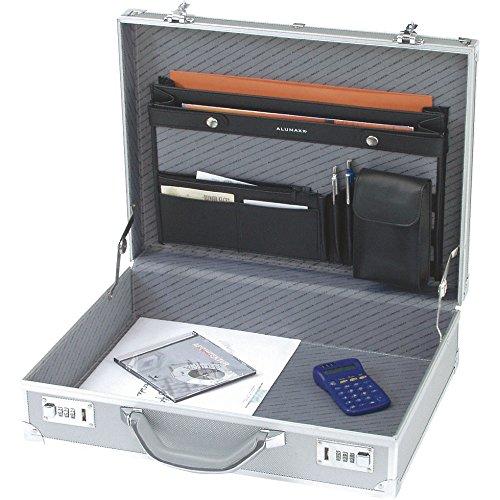 Alumaxx 45103 Aktenkoffer, Taschen, Mappen, Collegemappen Alu Octan silber