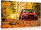 Classic BMW E30Leinwand Kunstdruck Bild, A0 91x61cm (36x24in)