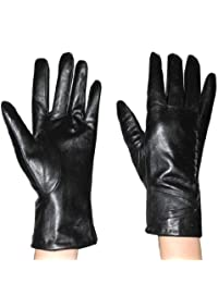 Damen Warm & Weatherproof Insulated Winter Leather Handschuhe with Interior Lining