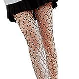 Egurs Damen Sexy Netzstrümpfe Strass Großes Gitter Elastisch Strumpfhose Strümpfe Leggings Lange Socken