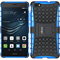 Funda Huawei P8 Lite, ykooe (TPU Series) Huawei P8 lite Híbrida Doble Capa Teléfono Móvil Carcasa Antigolpes Funda con Soporte para Huawei P8 Lite Azul