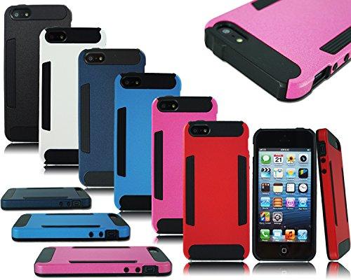 Neue Heavy Duty Slim Armor Hard Back Schutzhülle für Apple Samsung Handy Modelle Pink FOR APPLE I PHONE 5S