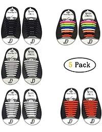 Zhongke 5 Pack for Kids Lacci per scarpe impermeabili elastici Impermeabili  in silicone elastico piatto con b5683a5f51b