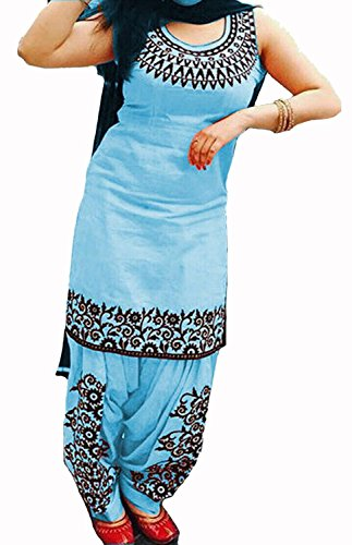 Vaankosh Fashion Blue Cotton New collection Designer partywear Dress Material for Women