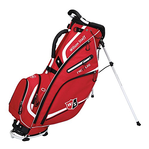Wilson 2015 Nexus II Stand Bag Mens Golf Carry Bag 5-Way Divider Red/White